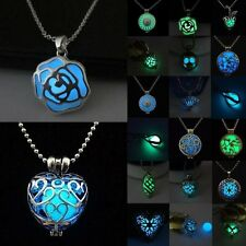 Charm Handmade Steampunk Magic Fairy Locket Glow In The Dark Pendant Necklace