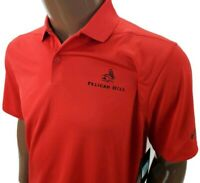 Mens Tiger Woods Nike Dri-Fit polo Golf Shirt XL yellow Pelican Hill Golf Course