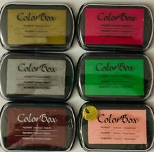 COLOR BOX PIGMENT ARCHIVAL INK PADS - SET OF 6 COLORS - PACK#3