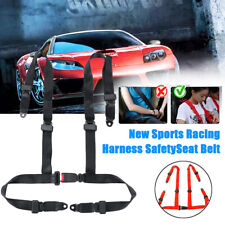 """4 Point Sports Racing Seat Belts Safety Harness 2 """" Universal Adjustable"""