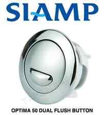 SIAMP OPTIMA 50 CHROME CABLE OPERATED DUAL FLUSH CISTERN PUSH BUTTON 34495007
