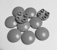 Lego Light Gray 2 x 2 Round Boat Bottom Plate - Lot of 10 Plates