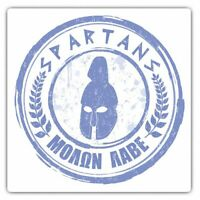 2 x Square Stickers 10 cm - Cool Greek Spartans Greece Acropolis Cool Gift #5180