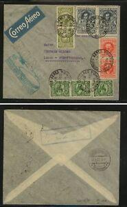 Bolivia  168(2), 199 (2), 189(3),203(2)  Zeppelin flight cover 1932      MS1222