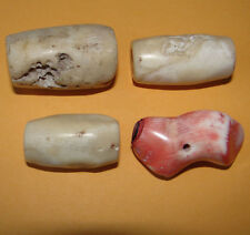 Coral White Trade Beads Gemstone Antique 4 Old Anceint African Nigeria Natural