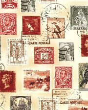 Longfellow Antique Postage Stamps Windham Fabrics 1/2 Yard NEW
