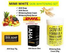 MIMI WHITE Body Whitening Set AHA Soap Serum SOWAT Ginseng Cream Bright Skin