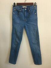 "Madewell Jeans Sz 25 High Rise 10'' Skinny Blue Jeans Hem Modified Inseam 24"""