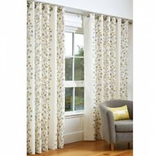 SCION LIVING Natural Berry Tree Lined Eyelet Heading Curtains. 168 x 183cm NEW