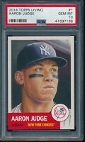 2018 Topps Living Set #1 Aaron Judge PSA 10 Gem Mint SP Short Print Card NYY