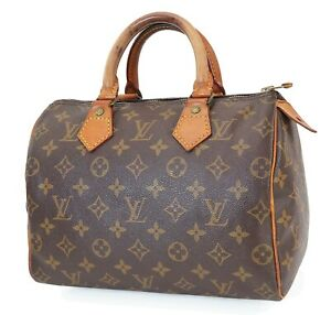 Authentic LOUIS VUITTON Speedy 25 Monogram Boston Handbag Purse #40336
