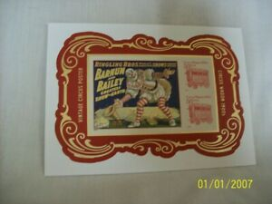 Barnum & Bailey Ringling Bros. Circus Poster imperforated stamp