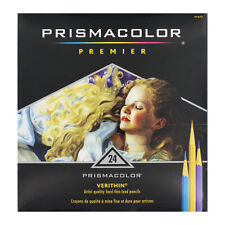 Prismacolor Verithin Colored Art Woodcase Pencils, 24 Assorted Colors/Set - 2427