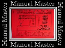 SINGER Model 353 Starlet ZigZag Sewing Machine Instruction Manual Booklet
