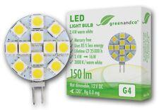 greenandco LED Lampe G4 2,4W ersetzt 25W 250lm warmweiß 120° 12V DC