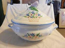 White Ceramic with Colored Flowers Soup Tureen from Macy's Made in Italy