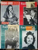 7x Radio Guide Magazine 1938 '39 '40 Antique Alice Frost Nadine Connor Al Jolson
