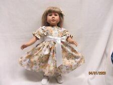 "BRIDAL BOUQUET in YELLOW dress fit s23"" My Twinn doll & matching bow barrette"