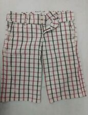 Abercrombie & Fitch Womens Shorts Sz 0 Bermuda Plaid White Pink Brown Moose