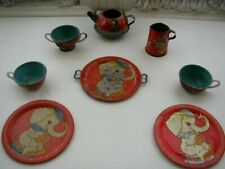 1948 Ohio Art #158, Circus 8-pc Child's Tin Tea Set