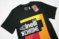Team Cinelli X Chrome Industries Black Short Sleeve Tee Cycling T-Shirt Mens S