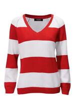 Striped Long Sleeve Jumper & Cardigan Plus Size for Women