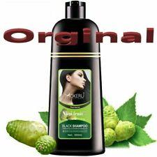 Natural Black Hair Dye Color Shampoo Cover White Gray Hair Permanent Black 500ML