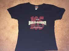 Womens Small 105th Anniversary Harley Davidson Tshirt , Milwaukee, WI. euc