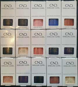CND Shellac luxe Gel Nail Polish (Authentic) 25 colours Brand New 12.5ml
