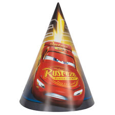 DISNEY CARS 3 CONE HATS (8) ~Birthday Party Supplies Favor Jackson Storm McQueen