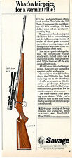 1968 Print Ad of Savage Model 340-V what is a fair price for a varmint rifle?