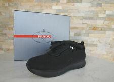 PRADA Gr 36 Slipper Sneakers Lurex 3E6321 Schuhe schwarz NEU ehem. UVP 450 €