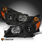 For 2010-2014 Subaru Legacy Outback Black Projector Headlights Lamps Left+Right