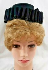 1940s Womens Ladies Hat Black Wool Headgear Headwear Fashion Accessory 6411B