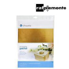 SILHOUETTE - Carta adesiva stampabile oro x Silhouette Portrait / CAMEO