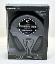 NEW iFrogz CODA Over the Ear Headphones w/Remote+Mic BLACK headset iPhone 5s/4s
