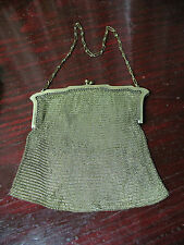 WHITING AND  DAVIS  NOUVEAU MESH  EAVENING  PURSE  w STONES  EXLNT