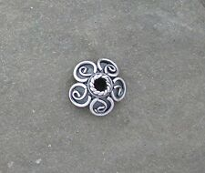 Bali Sterling Silver Ornate Bead Cap 3mm x 9mm Traditionally Handcrafted