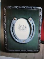Lucky Horseshoe Kentucky DERBY Horse Equestrian PICTURE FRAME Green NEW