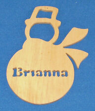Personalized Snowman Ornament - Basswood