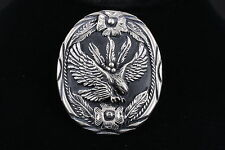 Clasp W/ Etched Design Fashion 4636 © S.S.I. Embossed Eagle & Floral Bolo