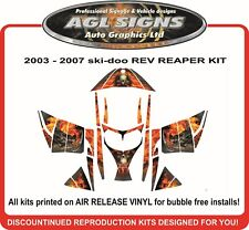 GRIM REAPER SLED WRAP  for SKI-DOO REV    mxz decal graphic