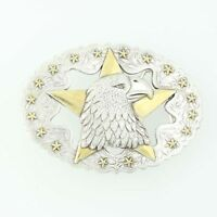 TLF Eagle's Head Patriotic Belt Buckle - Stars Etched Oval