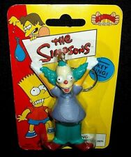 The Simpsons KRUSTY THE CLOWN Action Figure Vtg Cartoon Keychain Ring Holder Lot