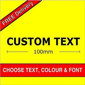 Custom Sticker 100mm wide