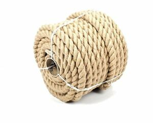 30mm 100% Natural Pure Jute Rope 3 Strand Braided Twisted Cord Twine Sash New