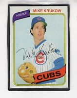 1980  MIKE KRUKOW - Topps Baseball Card # 431 - CHICAGO CUBS