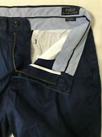 "Polo Ralph Lauren 33 x 9"" Navy 100% Cotton Classic Fit Flat Front Chino Shorts"