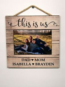 """This is Us Personalized Picture Frame,  Wooden Wall Sign, Home,  8""""x8"""" P131"""