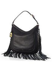 Lauren Ralph Lauren Leather Fleetwood Hobo Black Handbag New